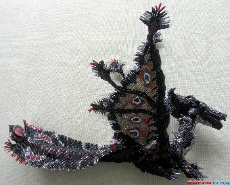 Как плести дракона из бисера - Делаем фенечки своими руками.