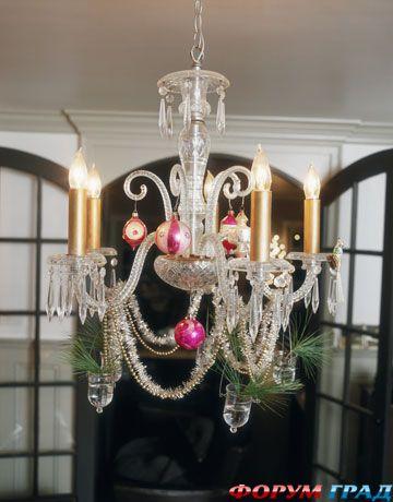 Новогодние украшения на люстру и подвески для праздничного стола