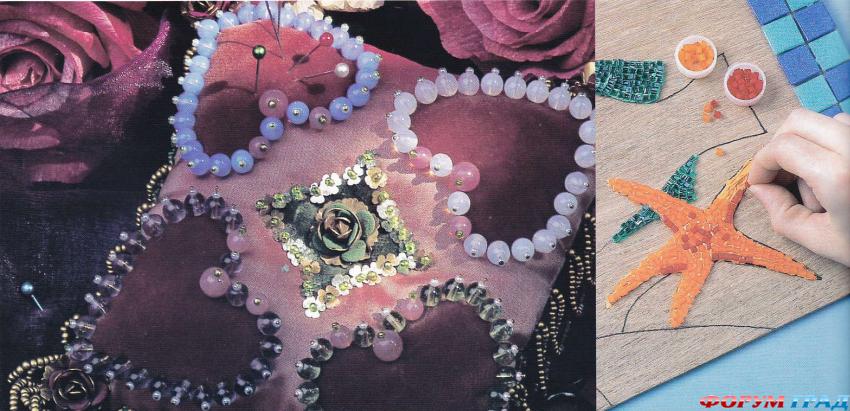 Декоративные изделия из бисера и бус.