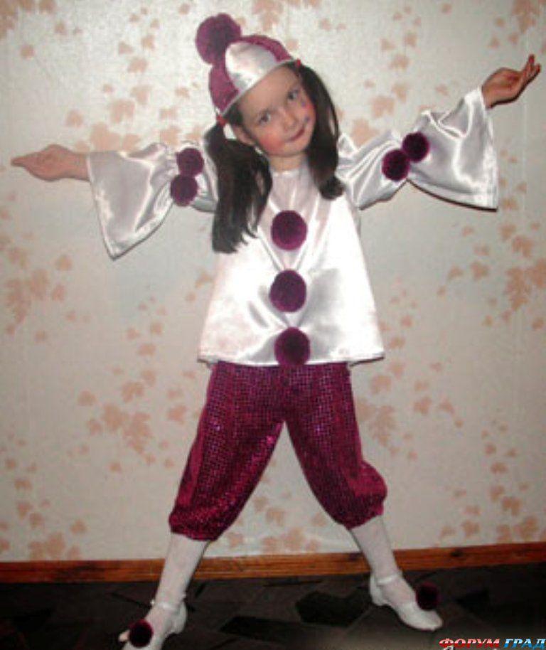 Детский карнавальный костюм Пьеро
