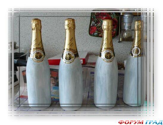 Новогодние бутылки с шампанским своими руками фото 311