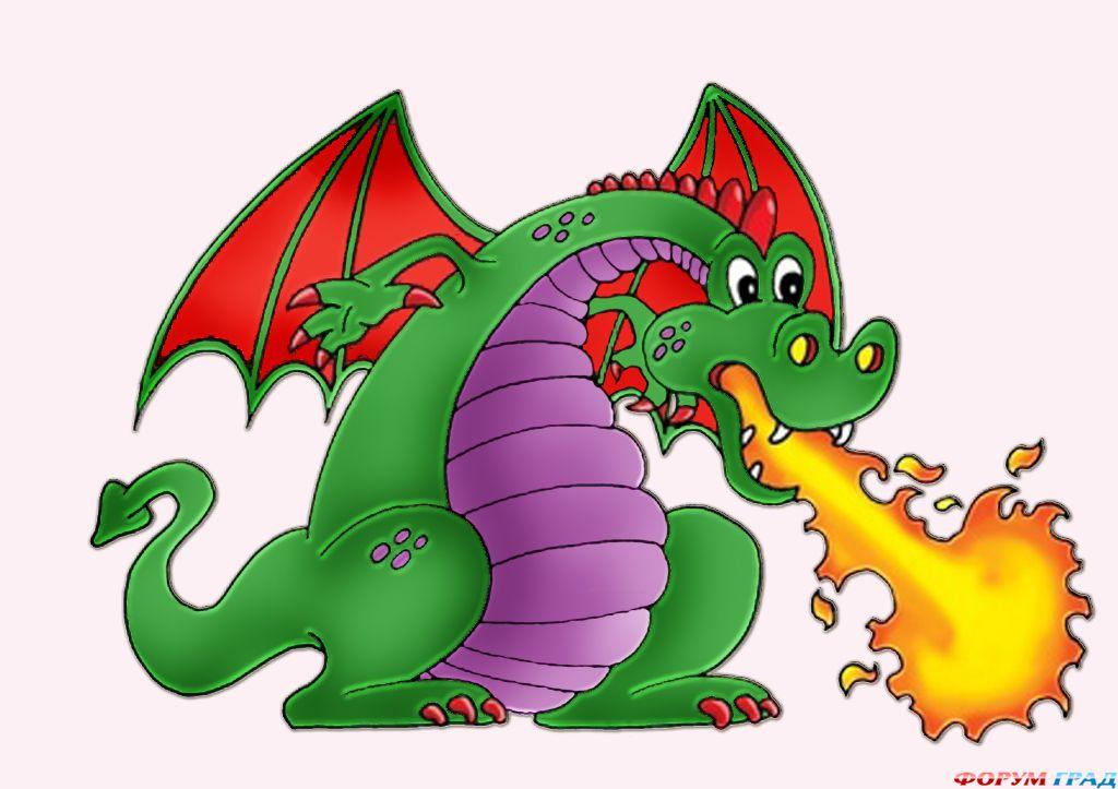 Рисунки детей с драконами