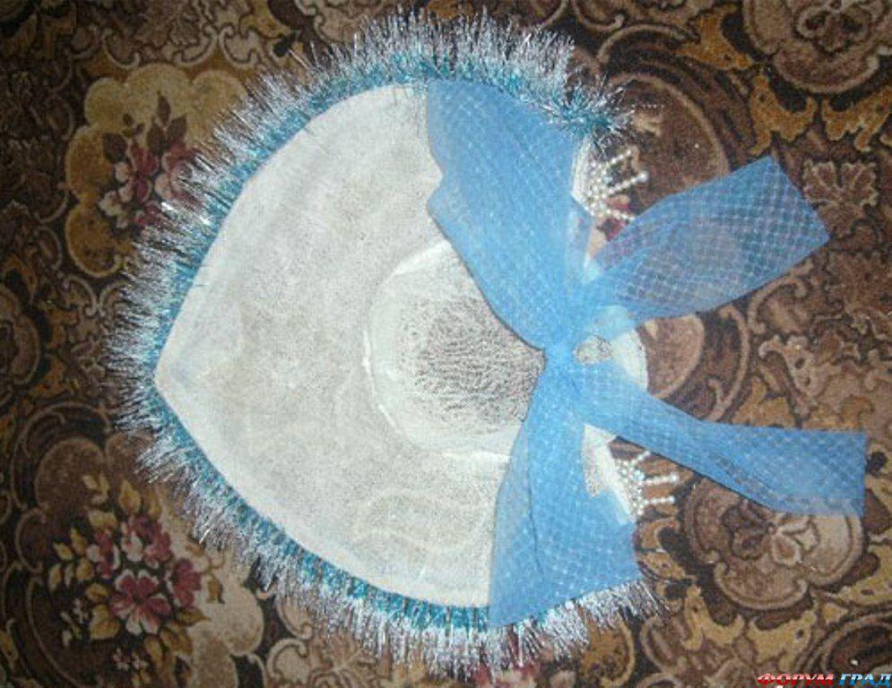 Новогодний костюм для снегурочки своими руками
