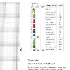 Расшифровка схемы вышивки 42