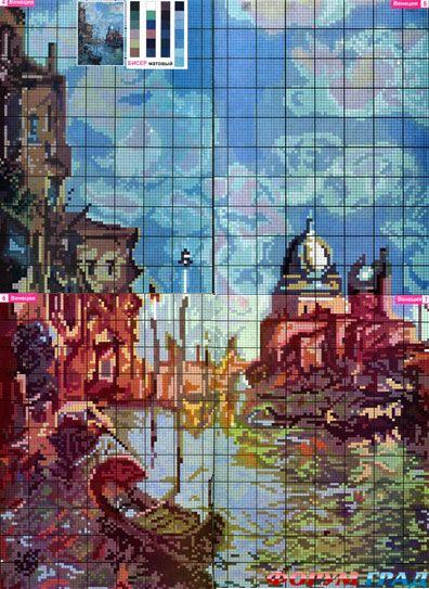 Схема Венеция Венеция бисером