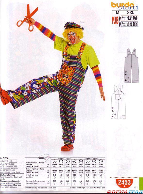 Костюм клоуна своими руками выкройки фото