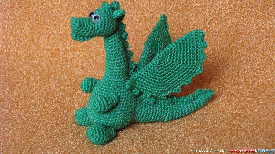 вязаные драконы, как связать