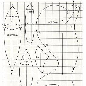 Подушка-рыба своими руками выкройки 86