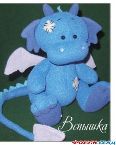 синий дракончик