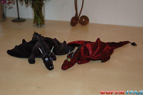 выкройки драконов и динозавров