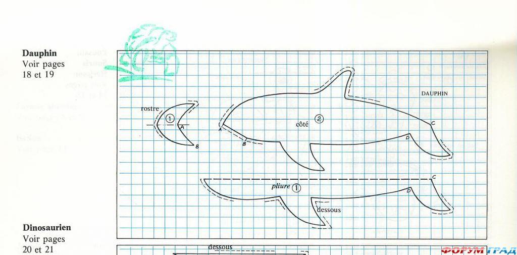 Сшить мягкую игрушку дельфина 65