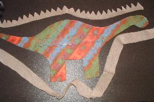 изготовление динозавра