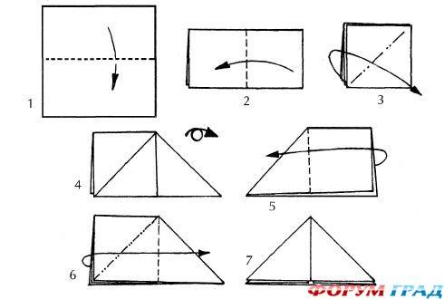 Как сделать бомбочку треугольник