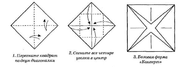 www.smotrikak.ru - Как сделать оригами - Конверт с листочком.