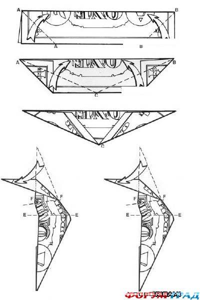 схема оригами манигами
