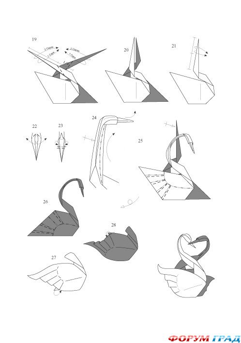 Нашел схему лебедя.  Точнее двух лебедей)) .