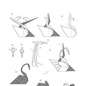 Название: оригами из бумаги схемы для начинающих лебедь Хеш...