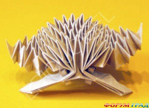 Оригами схемы ёжик