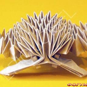 Оригами. в. схемы оригами, ежик.  Герасимец.