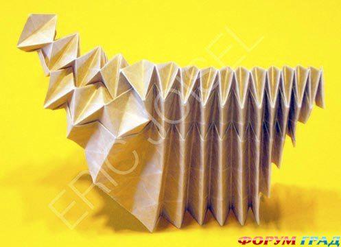 схемы оригами, ежик