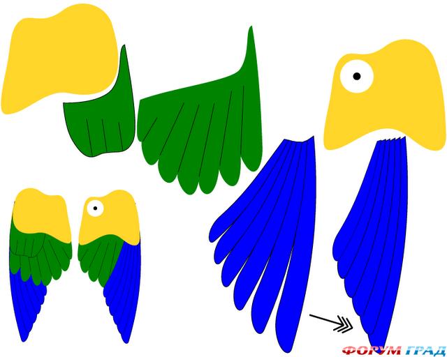 Выкройки костюма попугая