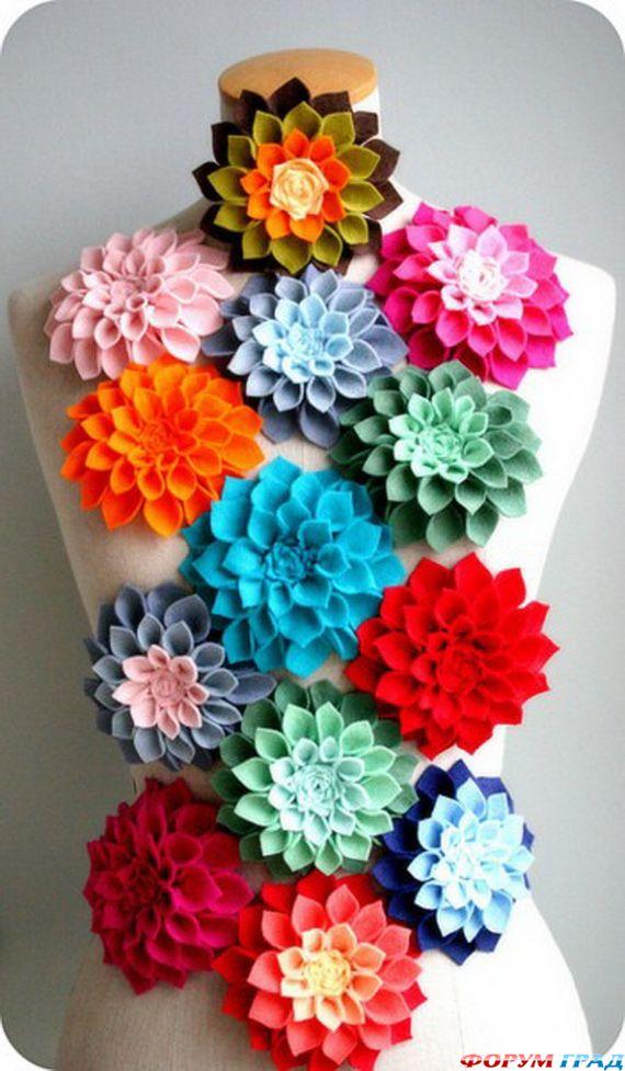 Цветы из фетра своими руками фото