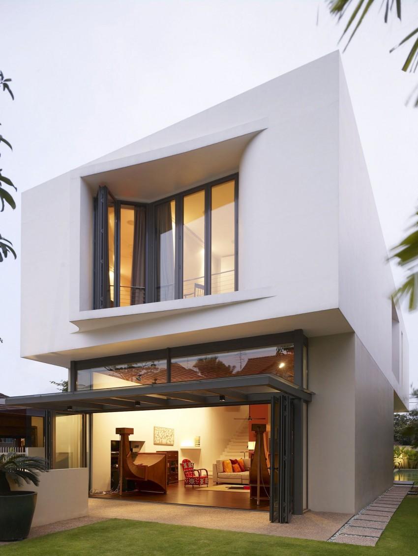 Авторские проекты современных домов: изящный коттедж от hyla architects