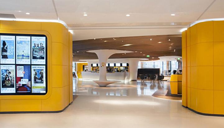 Современный интерьер развлекательного центра Centre Beaugrenelle в Париже