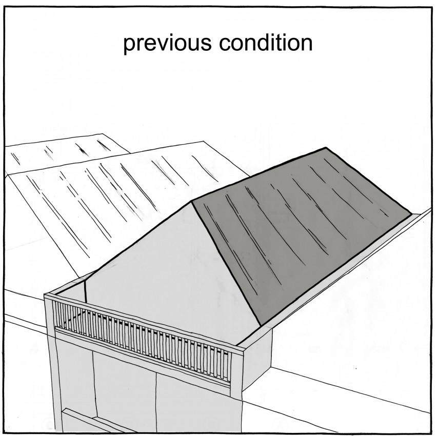Изначальная конструкция крыши