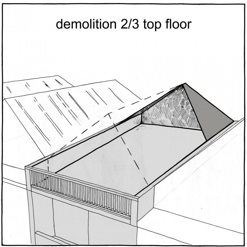 Крыша после демонтажа