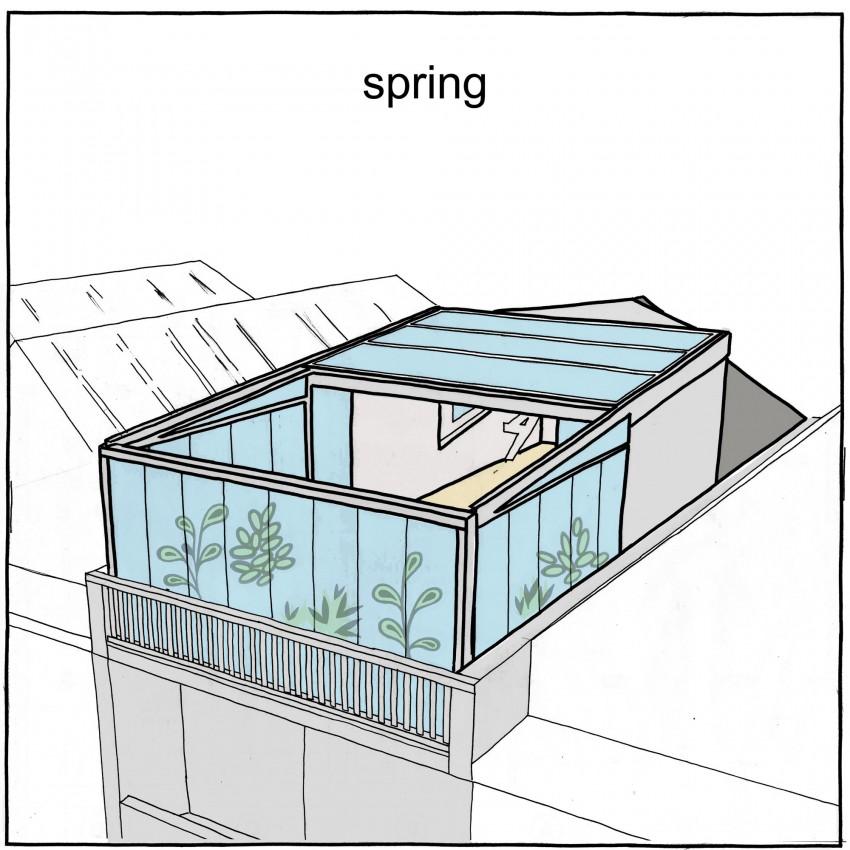 Конструкция крыши весной