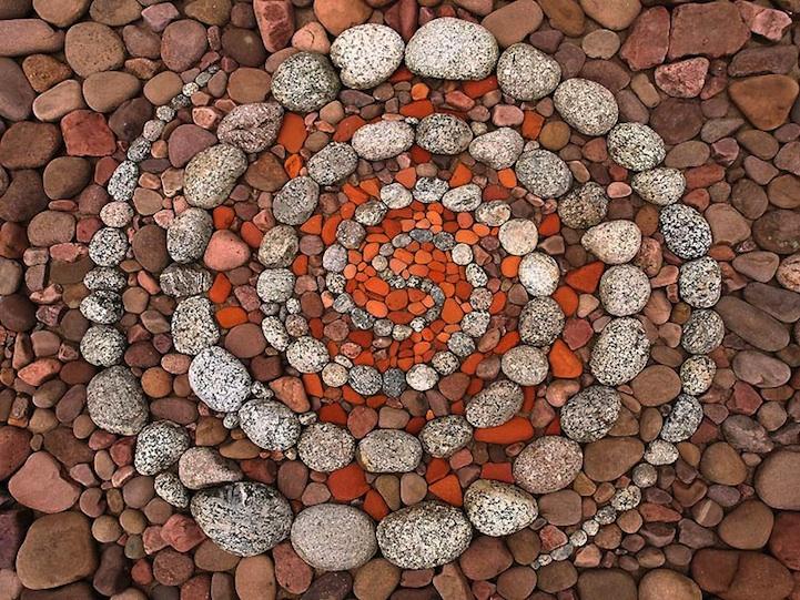 рисунки из камней: