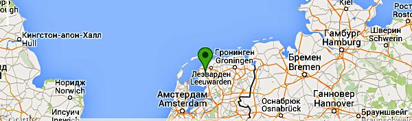 Карта с местонахождением отеля