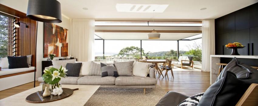 Красивые дома: австралийский Middle Harbour House с наклонной крышей