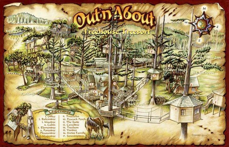 Схема отеля Out'n'About Treesort в США