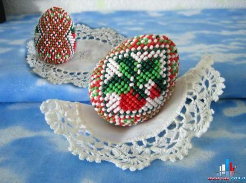 пасхальных яиц из бисера.