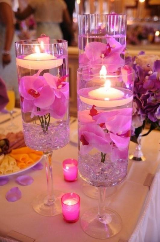 Свечи в цветах 113