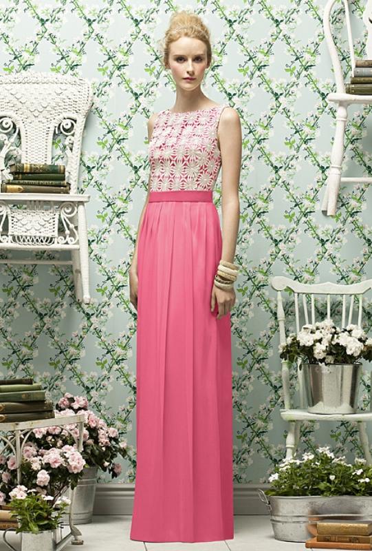 Длинное платье с кружевным верхом