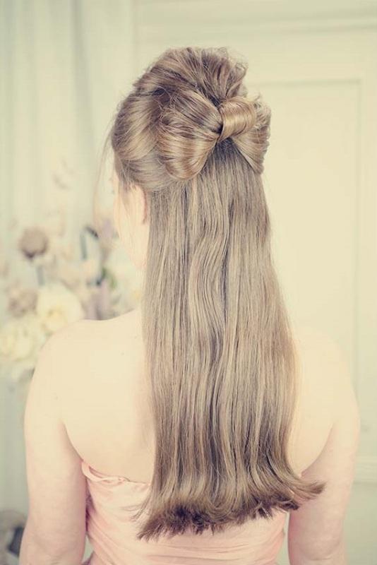 Бант из волос на длинные волосы своими руками