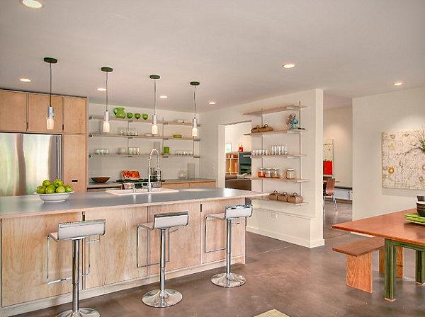Столешницы из ламината в кухне с современным дизайном