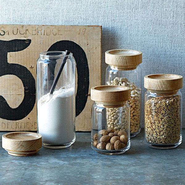 банки для хранения продуктов из натуральных материалов