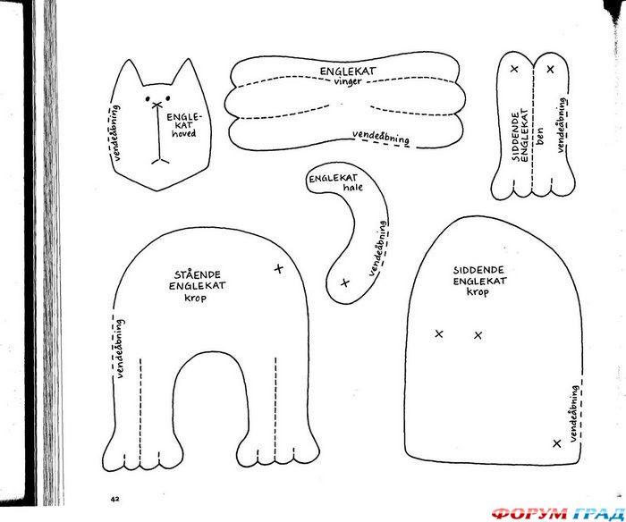 Как сшить кошку тильда своими руками выкройки