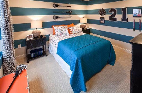 Дизайн спальни в синим цвете