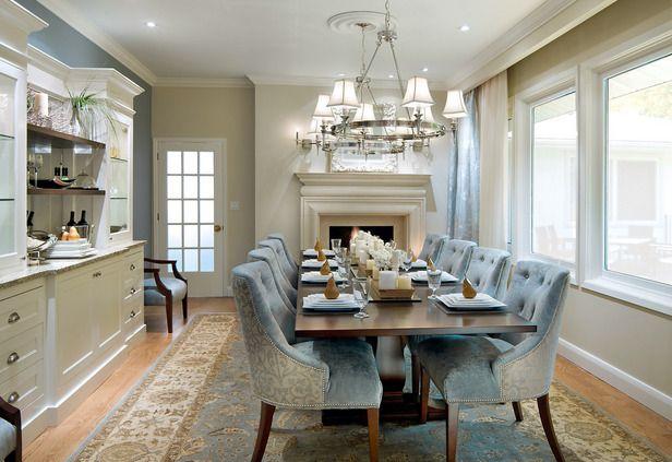 dining room design 01 Функциональность столовой   дизайнерский обеденный стол и классические предметы декора