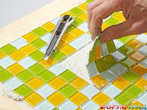 Как сделать мозаику из гипса 189