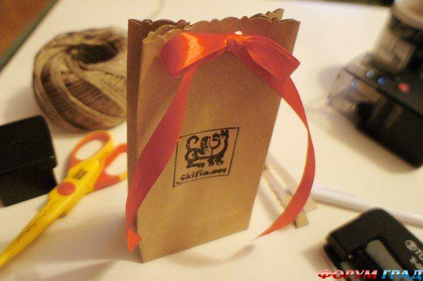 Пакет для подарка своими руками фото