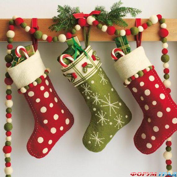 Рождественский носочек своими руками