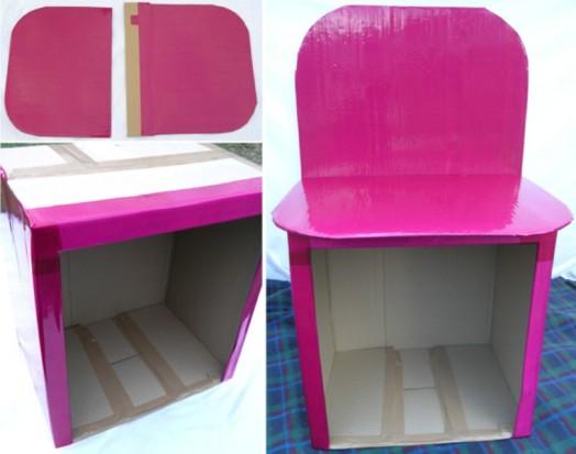 Туалетный столик из картона своими руками