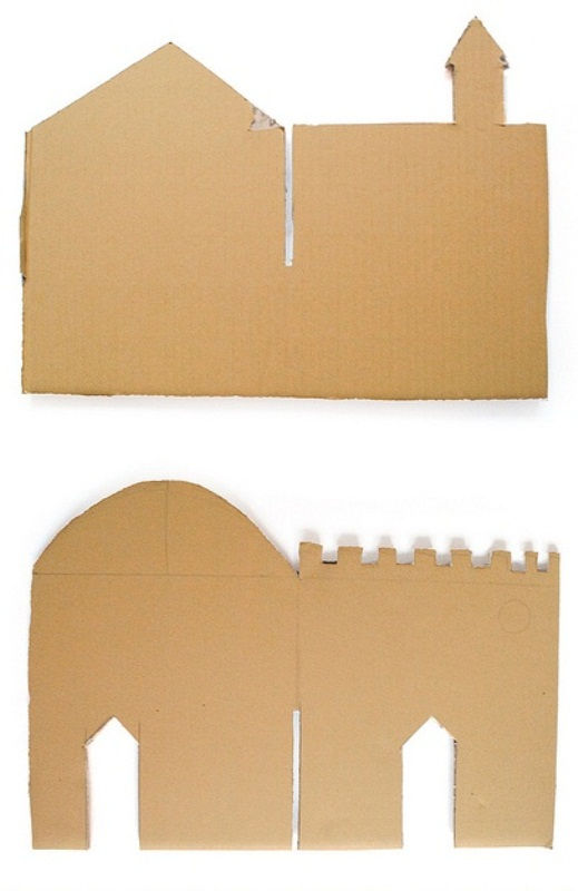 Замки из бумаги своими руками легко