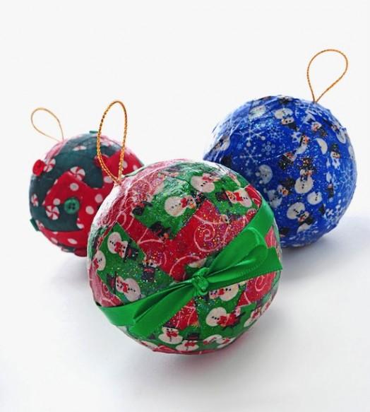 Новогодние шары своими руками из папье маше